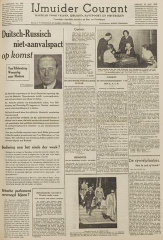 IJmuider Courant 1939-08-22