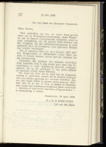 Raadsnotulen Heemstede 1939-05-25