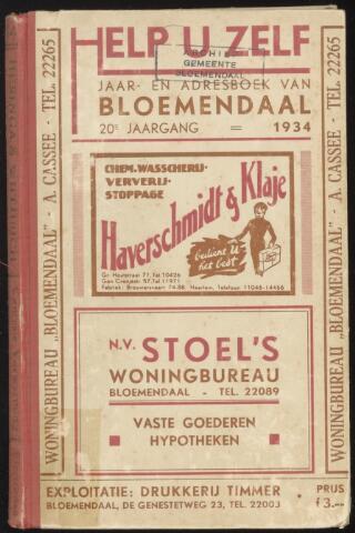 Adresboeken Bloemendaal 1934