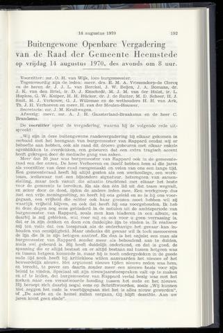 Raadsnotulen Heemstede 1970-08-14