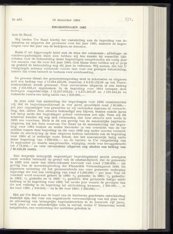Raadsnotulen Heemstede 1964-12-18
