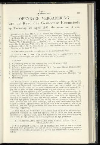 Raadsnotulen Heemstede 1953-04-29