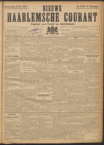 Nieuwe Haarlemsche Courant 1906-10-18