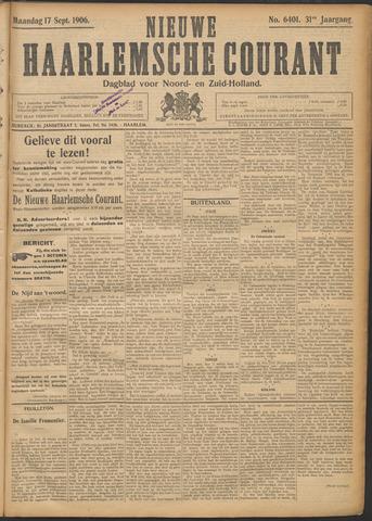 Nieuwe Haarlemsche Courant 1906-09-17
