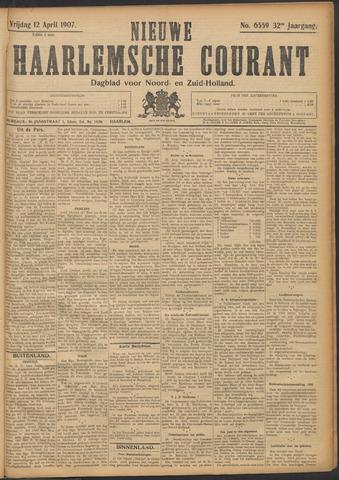 Nieuwe Haarlemsche Courant 1907-04-12