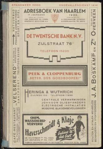 Adresboeken Haarlem 1936