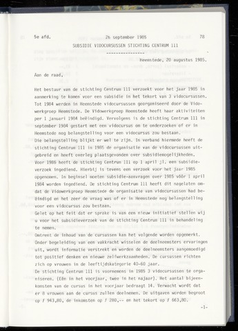 Raadsnotulen Heemstede 1985-09-26