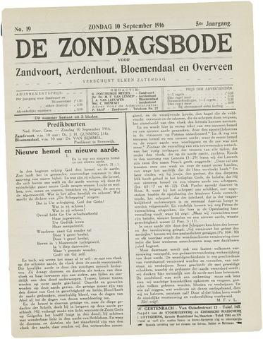 De Zondagsbode voor Zandvoort en Aerdenhout 1916-09-10