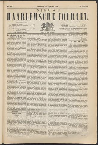 Nieuwe Haarlemsche Courant 1884-08-28