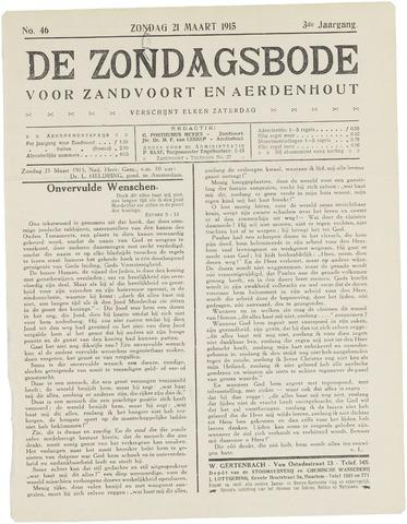 De Zondagsbode voor Zandvoort en Aerdenhout 1915-03-21