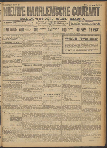 Nieuwe Haarlemsche Courant 1913-09-20