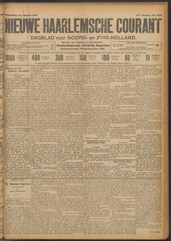Nieuwe Haarlemsche Courant 1909-01-20