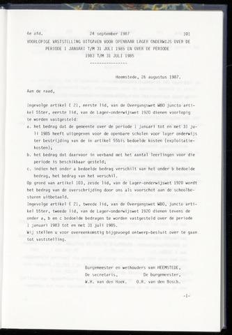 Raadsnotulen Heemstede 1987-09-24