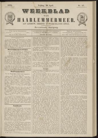 Weekblad van Haarlemmermeer 1876-04-28