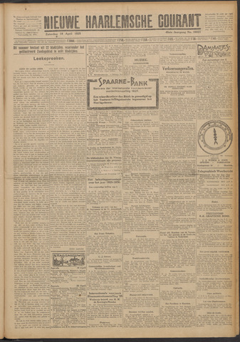 Nieuwe Haarlemsche Courant 1925-04-18
