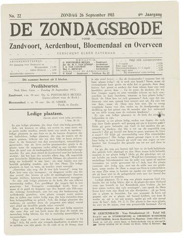 De Zondagsbode voor Zandvoort en Aerdenhout 1915-09-26