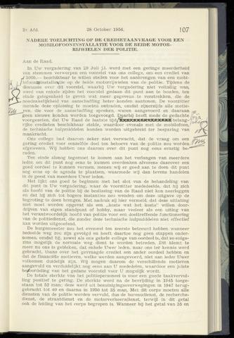 Raadsnotulen Heemstede 1954-10-28