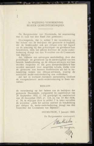Raadsnotulen Heemstede 1943-01-07