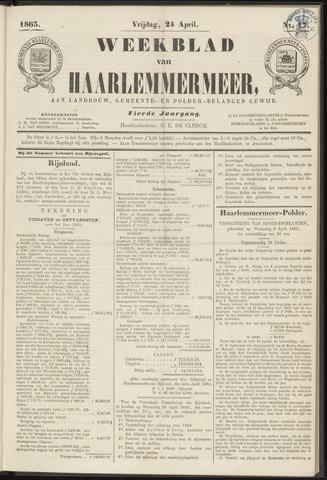 Weekblad van Haarlemmermeer 1863-04-24