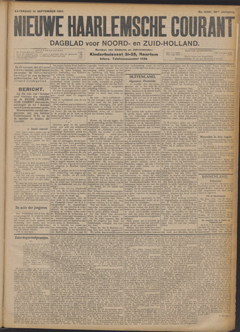 Nieuwe Haarlemsche Courant 1907-09-21
