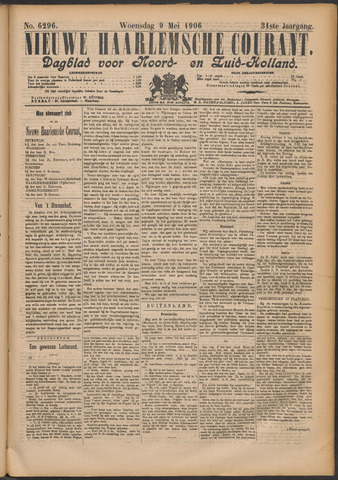 Nieuwe Haarlemsche Courant 1906-05-09