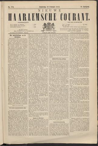 Nieuwe Haarlemsche Courant 1884-02-28