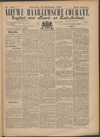 Nieuwe Haarlemsche Courant 1903-09-23