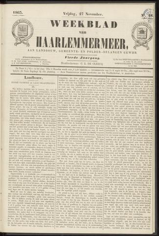 Weekblad van Haarlemmermeer 1863-11-27