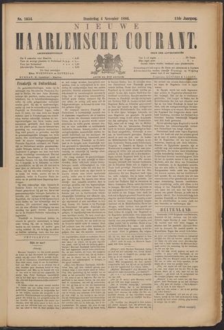 Nieuwe Haarlemsche Courant 1886-11-04