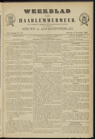 Weekblad van Haarlemmermeer 1885-11-14