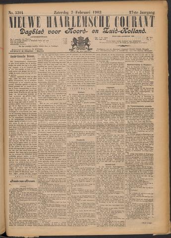 Nieuwe Haarlemsche Courant 1903-02-07