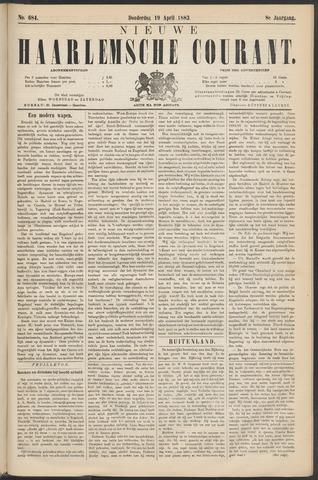 Nieuwe Haarlemsche Courant 1883-04-19