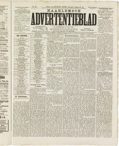 Haarlemsch Advertentieblad 1882-05-27