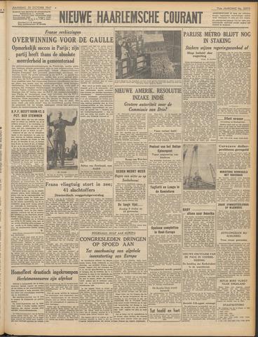 Nieuwe Haarlemsche Courant 1947-10-20
