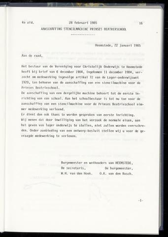 Raadsnotulen Heemstede 1985-02-28