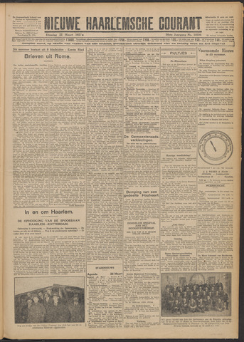 Nieuwe Haarlemsche Courant 1927-03-22
