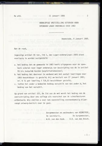 Raadsnotulen Heemstede 1985-01-31
