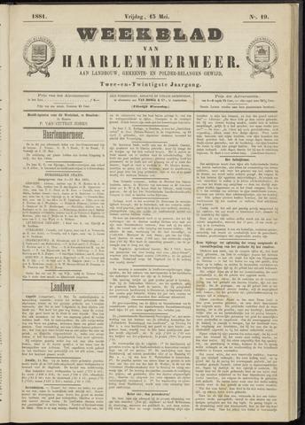 Weekblad van Haarlemmermeer 1881-05-13
