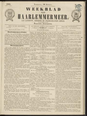 Weekblad van Haarlemmermeer 1868-04-10