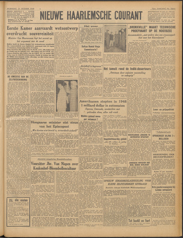 Nieuwe Haarlemsche Courant 1949-12-21