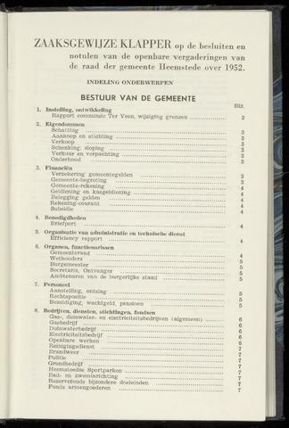 Raadsnotulen Heemstede 1952