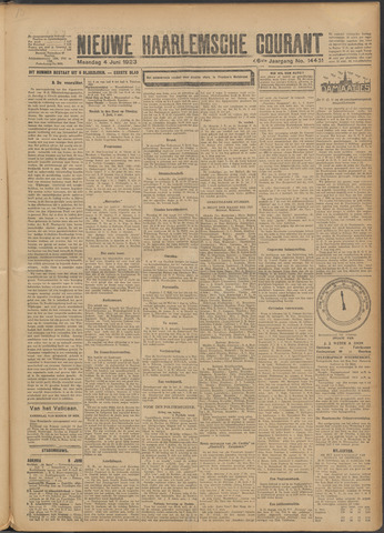Nieuwe Haarlemsche Courant 1923-06-04