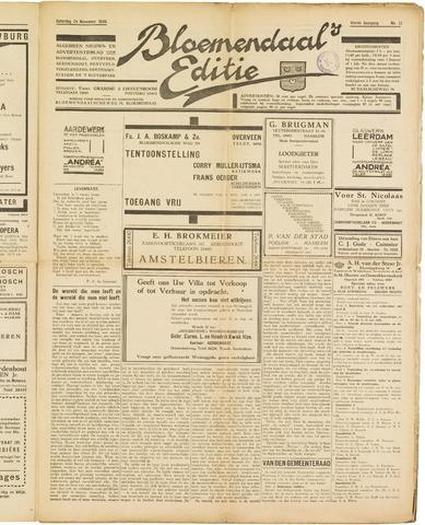 Bloemendaal's Editie 1928-11-24
