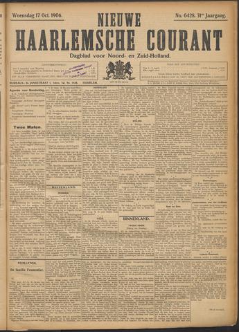 Nieuwe Haarlemsche Courant 1906-10-17