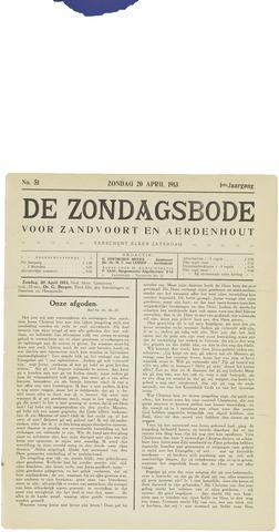 De Zondagsbode voor Zandvoort en Aerdenhout 1913-04-20