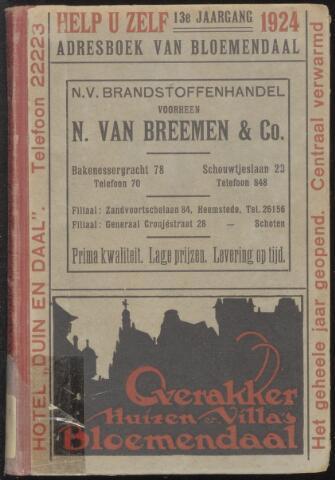 Adresboeken Bloemendaal 1924
