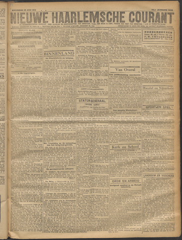 Nieuwe Haarlemsche Courant 1919-06-25