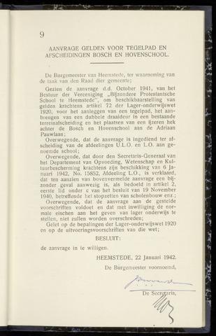 Raadsnotulen Heemstede 1942-01-22