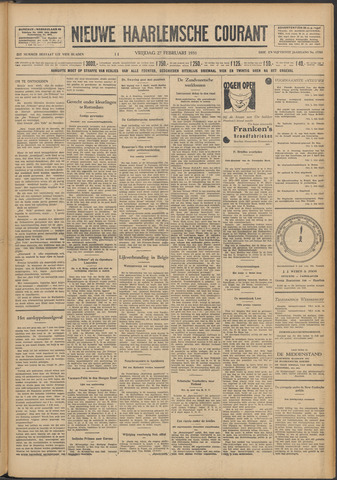 Nieuwe Haarlemsche Courant 1931-02-27