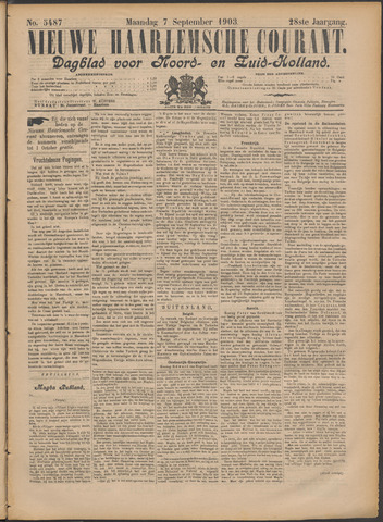 Nieuwe Haarlemsche Courant 1903-09-07